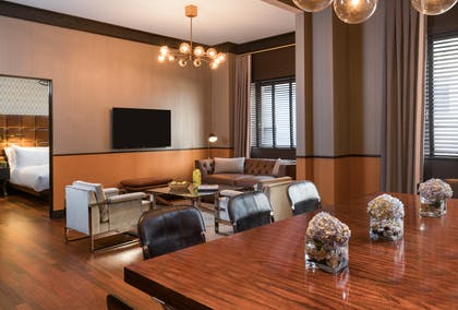 Dining room | Penthouse Suite | Gild Hall, a Thompson Hotel