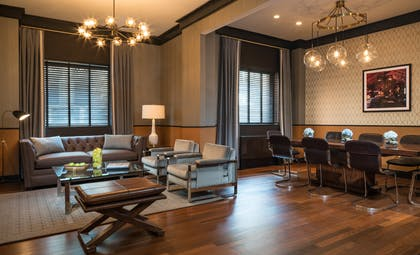 Living room  | Penthouse Suite | Gild Hall, a Thompson Hotel