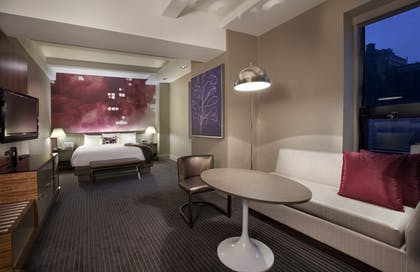 Living Area and Bedroom | Corner King Suite | Grand Hyatt New York