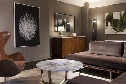 Living Area 2 | Grand City View Suite + Grand Deluxe Doubles | Grand Hyatt New York