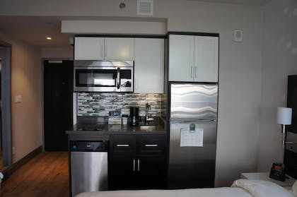 Kitchen | 1 King Bed Efficiency Studio with Sofa - Non-smoking | Homewood Suites New York/Midtown Manhattan Times Square