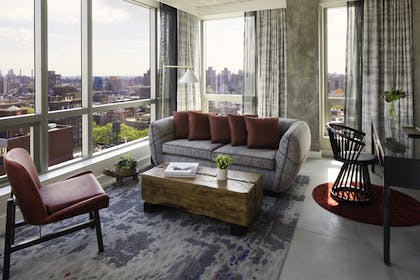 Living Room | Bowery Suite | Hotel 50 Bowery NYC