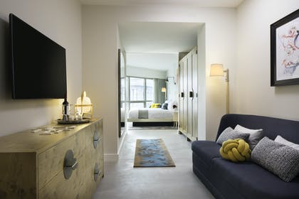 Living Room | Kindred Suite | Hotel 50 Bowery NYC