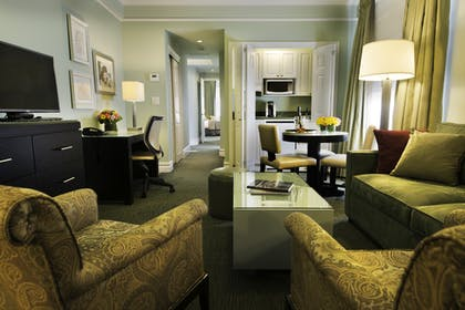 Living Room | Executive Suite Bedroom One King Bed | Hotel Beacon