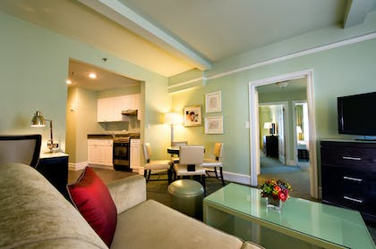 Living Room | Two Bedroom Suite | Hotel Beacon
