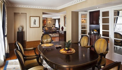 Dining Room | Penthouse Suite | Hotel Plaza Athenee