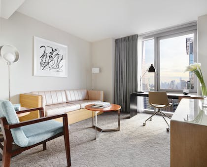 Living Room | Deluxe View Suite | Hyatt Centric Times Square New York