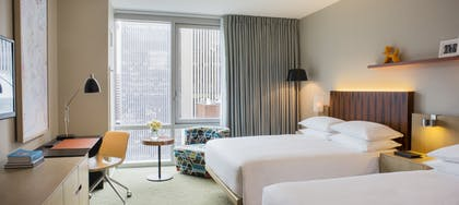 Two Queen Bedroom | Executive Suite + View Two Queens | Hyatt Centric Times Square New York
