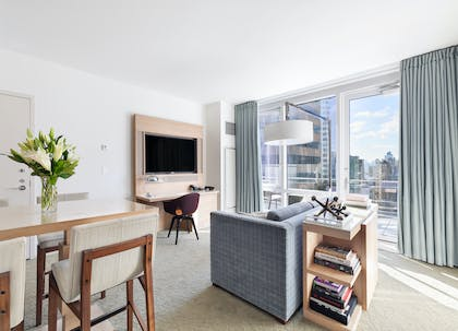 Living Room | Premier Suite + One King Bed | Hyatt Centric Times Square New York