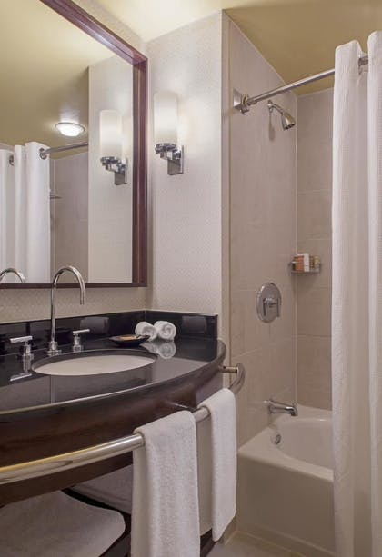 Bathroom | Ellis Suite + Hudson View Doubles  | Hyatt Regency Jersey City on the Hudson