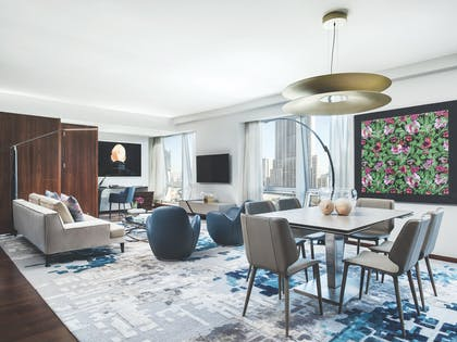 Living Room 2 | Roche Bobois Penthouse Suite + Deluxe Room | The Langham, New York, Fifth Avenue