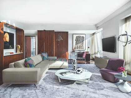 Living Room 3 | Roche Bobois Penthouse Suite + Deluxe Room | The Langham, New York, Fifth Avenue
