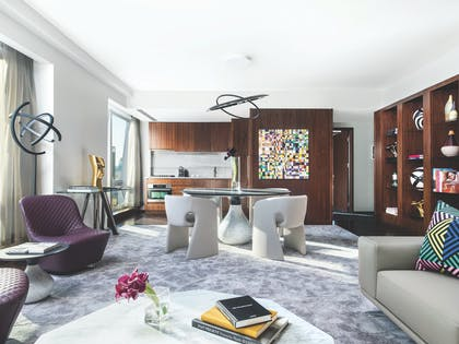 Living Room 4 | Roche Bobois Penthouse Suite + Deluxe Room | The Langham, New York, Fifth Avenue