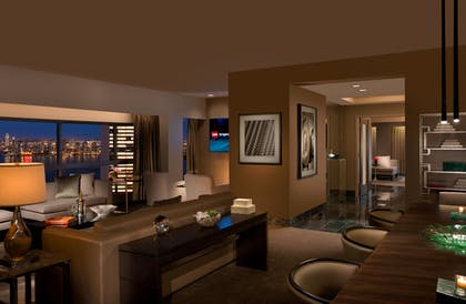 Presidential Living Room | Millennium Suite + 2 Full Beds Room | Millennium Hilton New York One UN Plaza