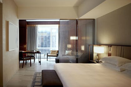 Bedroom and View | One King Studio Suite | Park Hyatt New York