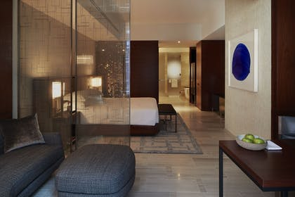 Living Area and Bedroom | One King Studio Suite | Park Hyatt New York