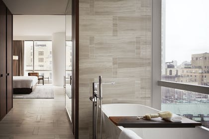 West Side Bathroom | One King City View Suite + Two Double City View | Park Hyatt New York
