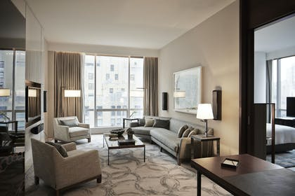 West Side Living Room | One King City View Suite + Two Double City View | Park Hyatt New York