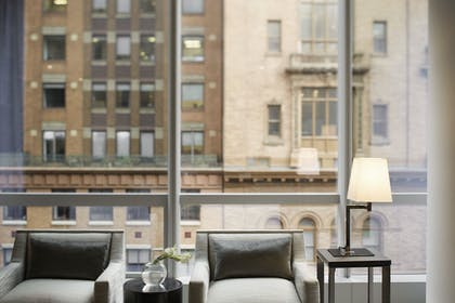 West Side Seating Area | One King City View Suite + Two Double City View | Park Hyatt New York