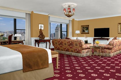 Living room 2 | Honeymoon Suite + Premier City View Queen | Park Lane Hotel New York