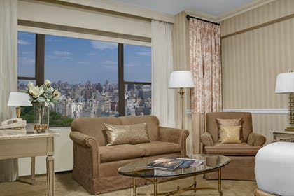 Sitting area | Premier Park View Junior Suite + Premier Park Double | Park Lane Hotel New York