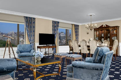 Living room | Presidential Suite + Premier City View Queen | Park Lane Hotel New York