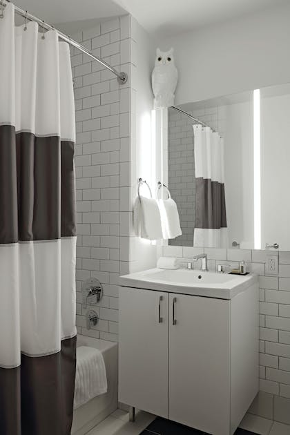 Bathroom   One Bedroom Apartment with Office   Q & A Residential Hotel