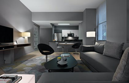 Living Room | Two Bedroom Suite Two Baths | Lyric at 70 Pine