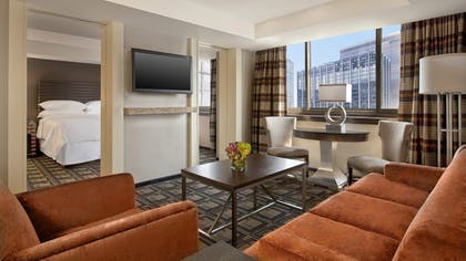 Living area | Executive Suite | Sheraton New York Times Square Hotel