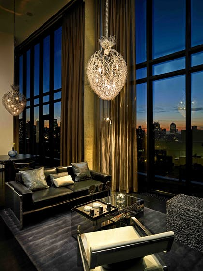 Living Room at Night | SIXTY Loft + SIXTY Suite | SIXTY Lower East Side