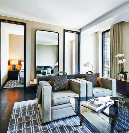 Living room | Sixty Thompson Suite + King Deluxe | SIXTY SoHo