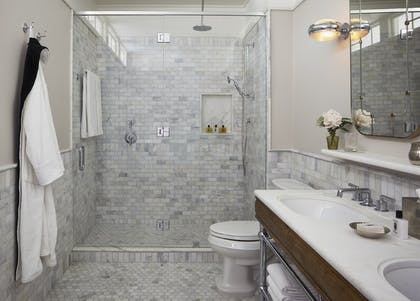 Shower | Corner Suite | The Beekman, a Thompson Hotel
