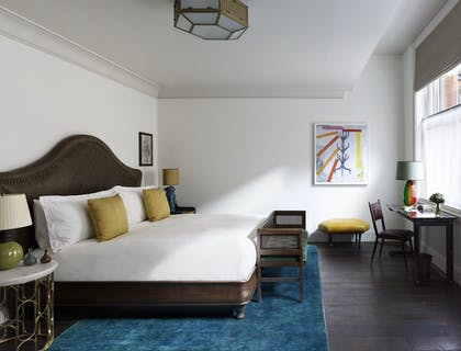 Bed and Desk | Studio Suite | The Beekman, a Thompson Hotel