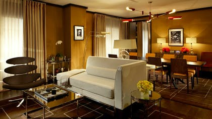 Living area | Director One Bedroom Suite + Junior Suite King Bed | The Chatwal