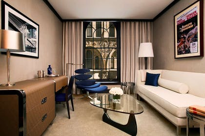 Living room | Director One Bedroom Suite + Junior Suite King Bed | The Chatwal