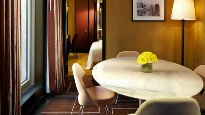 Dining room | Producer One Bedroom Suite + Producer One Bedroom Suite | The Chatwal