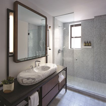 Bathroom | Deluxe Jimmy Suite King | The James New York - NoMad