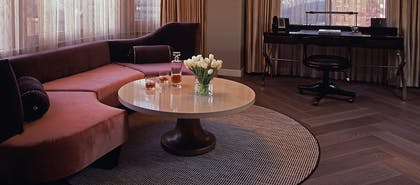 Couch | London Two Bedroom Suite | The London NYC