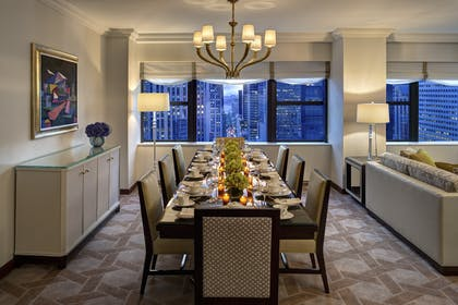 Dining Room Table | Deluxe Corner Suite | Lotte New York Palace