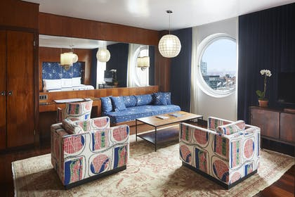 Living Room | Junior Penthouse | The Maritime Hotel
