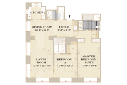 Floorplan | Mark Premier Two Bedroom | The Mark