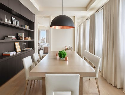 Dining room | Penthouse Suite + King Guestroom | The New York EDITION