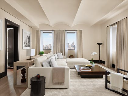 Living room | Penthouse Suite + King Guestroom | The New York EDITION