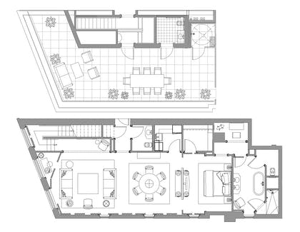 Floorplan | Suite Royale | The Nomad Hotel