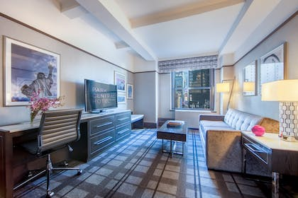 Living Room | Times Square Premier King Suite | Park Central New York