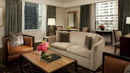 Living room | Deluxe Suite + Grand Luxe Room | The Peninsula New York