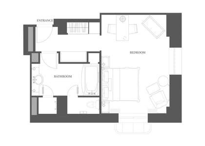 Floorplan 2 | Junior Suite + Deluxe Room | The Peninsula New York