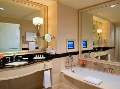 Bathroom | Junior Suite + Deluxe Room | The Peninsula New York