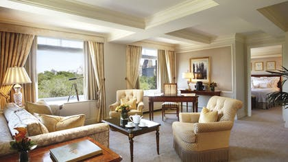 Living room | Parkview Suite + City View Guest Room | The Ritz-Carlton New York, Central Park