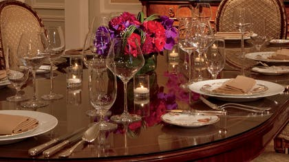 Dining Table | Premiere Suite | The Ritz-Carlton New York, Central Park